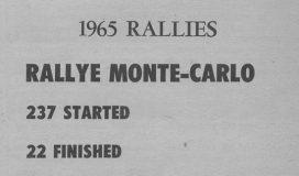 1965 Rallies