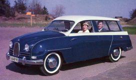 Blue n White Saab