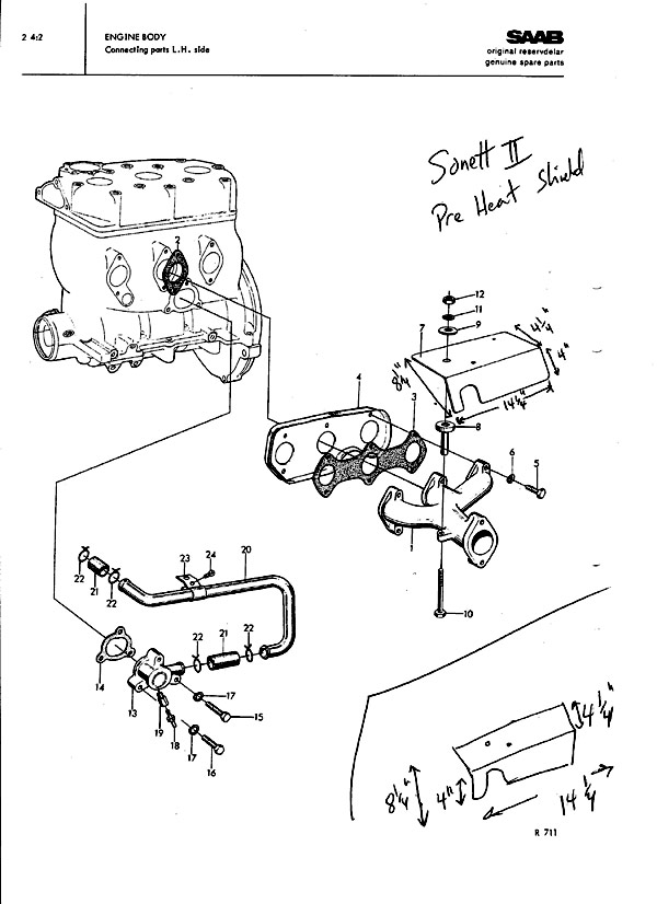 How To Make A Pre Heat Plate For A Saab Two Stroke Sonett Ii
