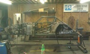 Finished roll cage at Adam's Chassis