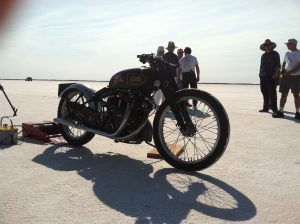 "Burt Munro's motorcycle from the sixties and ""The World's fastes Indian!"""