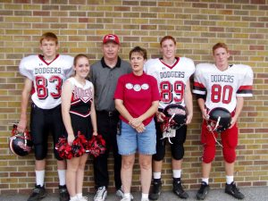 The family in Football 2002 with Nephew Matt Walker