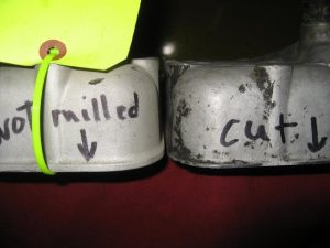 Photo #3 Bullnose lip area that gets thinner as milling increases.