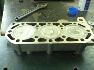 Photo #5 Our stock head filled with Aluminum to make the PERFECT CHAMBER!
