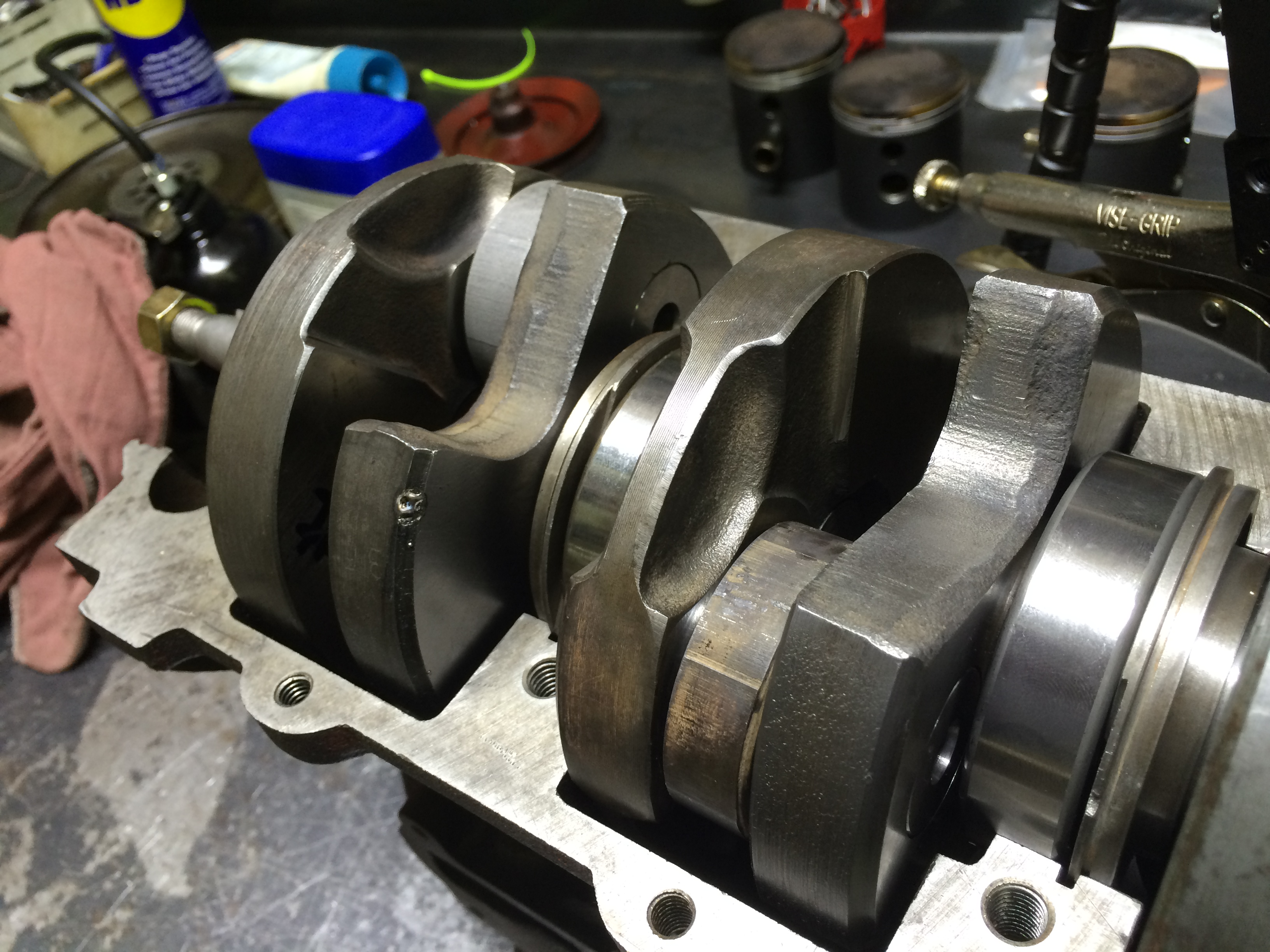 Saab Hybrid Two-Stroke Crankshaft